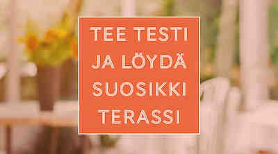 Tee terassitesti ja löydä suosikkiterassi Helsingissä