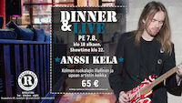 Dinner & Live: Anssi Kela @ revolution 7.8.20