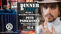 Dinner & Live: PETE PARKKONEN 24.7.20 Revolution