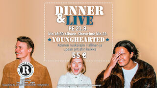 Dinner & Live: Younghearted @ revolution 21.8