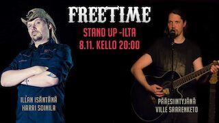 Stand up @Freetime Jyväskylä pe 8.11.2019 liveto.io