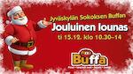 Jouluinen lounas ti 15.12. klo 10.30-14 Jyväskylän Sokoksen Buffassa.