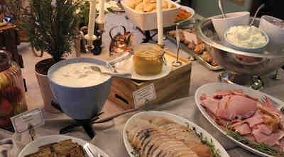 Lillajul julbord jullunch villa sandviken vasa