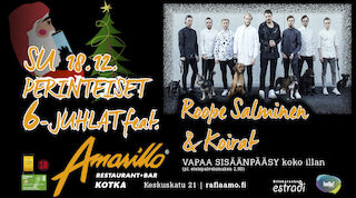 Amarillo Kotka: Perinteiset 6-Juhlat feat. Roope Salminen & Koirat 18.12.
