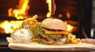 Hillside smoky burger buffet