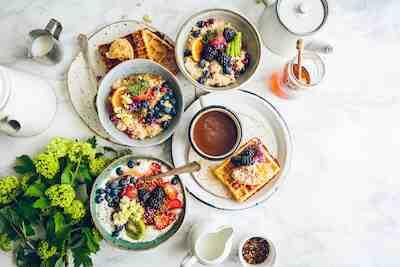 brunssi, kahvila, aamiainen, herkku