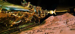 Show & dinner Octoband Saksofoni pikkujoulu Frans & michelle