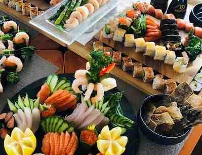 sushi, savonlinna, buffa, seurahuone, aula,