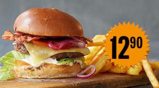 Burgertarjous burgertiistai rapido hampurilainen hampurilaisateria kauppakeskus Mylly WIklund