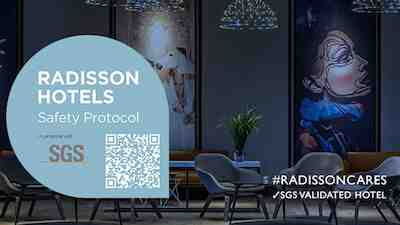 International Safety Protocol sertifikaatti Radisson Hotels com SGS covid 19 turvallisuus