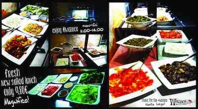 Uusi mahtava salaattipöytä aloittaa onnistuneen lounaan Vaasassa!
