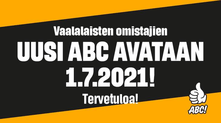 Upouusi ABC Vaala avataan 1.7.