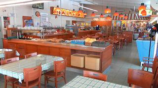 LähiStoppi Liminka, viihtyisä ravintolasali