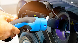 Charging an electric car on the go